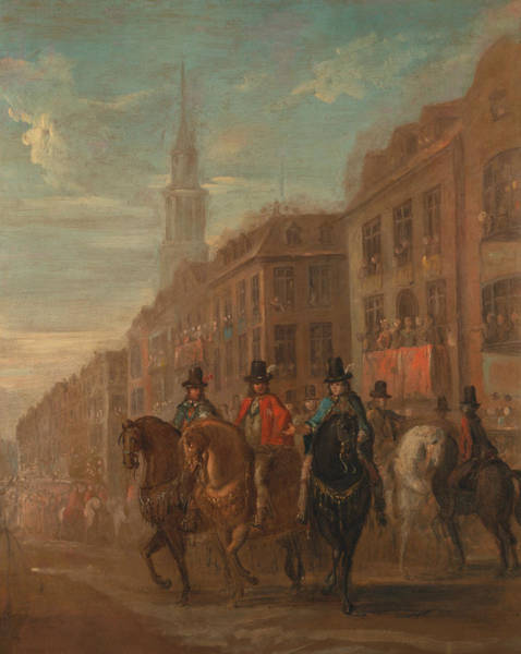 Painting - Restoration Procession Of Charles II At Cheapside by William Hogarth