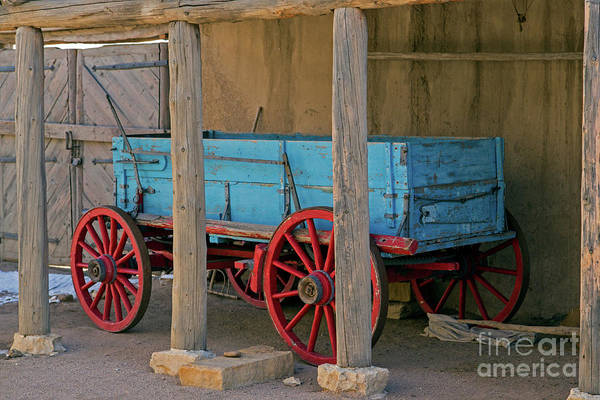 Photograph - Restored Wagon Bents Old Fort by Fred Stearns