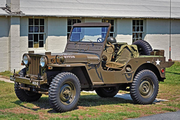 Photograph - Restored Willys Army Jeep At Fort Miles by Bill Swartwout Photography