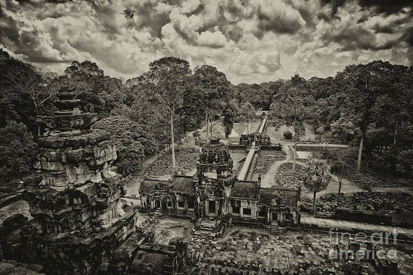 Photograph - Restoring The Glory Of Baphoun Temple, Angkor Thom, Siem Reap Province, Cambodia by Sam Antonio Photography