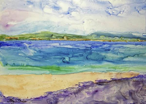 Us Virgin Islands Painting - Resurgence by Mary Benke