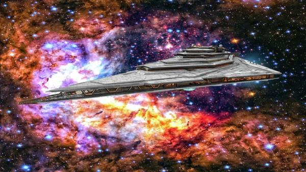 Wall Art - Digital Art - Resurgent-class Star Destroyer by Louis Ferreira