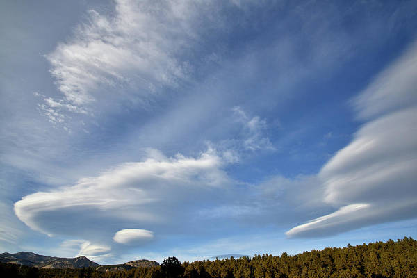 Photograph - Reticular Clouds Sweep Over Denver Foothills by Ray Mathis