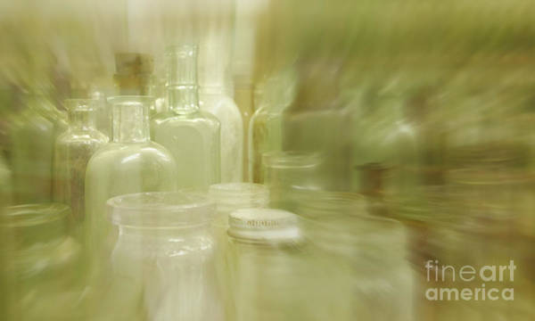Alcohol Ink Photograph - Retired Bottles Series #1 by Lexa Harpell