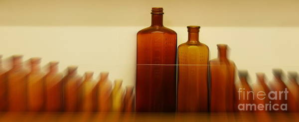 Alcohol Ink Photograph - Retired Bottles Series #4 by Lexa Harpell
