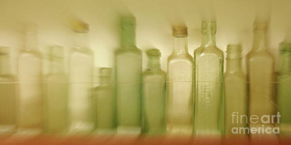 Alcohol Ink Photograph - Retired Bottles Series #5 by Lexa Harpell