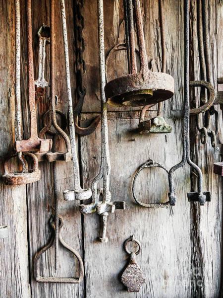 Branding Iron Photograph - Retired Branding Irons 1 by Lexa Harpell