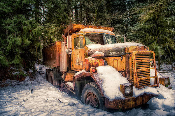 Dump Truck Photograph - Retired by Charlie Duncan