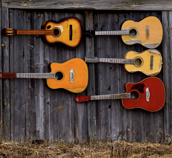 Retired Guitars  Art Print