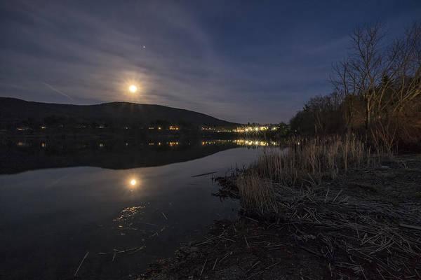 Photograph - Retreat Meadows Full Moon by Tom Singleton