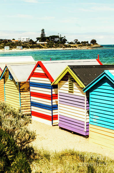 Wall Art - Photograph - Retro Beach Boxes by Jorgo Photography - Wall Art Gallery