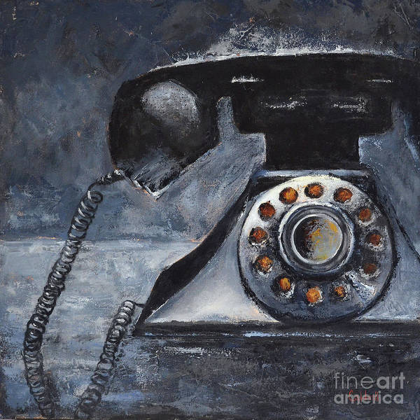 Dial Painting - Retro Black by Patricia Caldwell