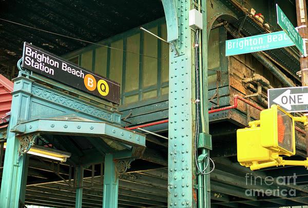 Photograph - Retro Brighton Beach Station In Brooklyn by John Rizzuto