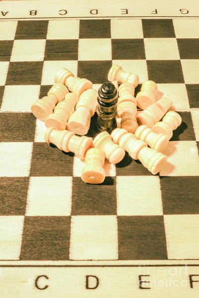 Leadership Wall Art - Photograph - Retro Chess Battles by Jorgo Photography - Wall Art Gallery