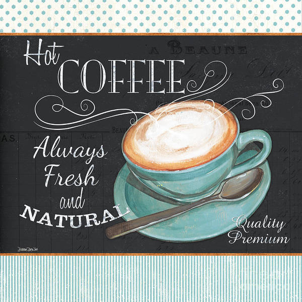Delicious Wall Art - Painting - Retro Coffee 1 by Debbie DeWitt