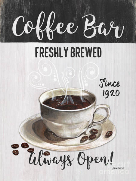 Bar Wall Art - Painting - Retro Coffee Shop 2 by Debbie DeWitt
