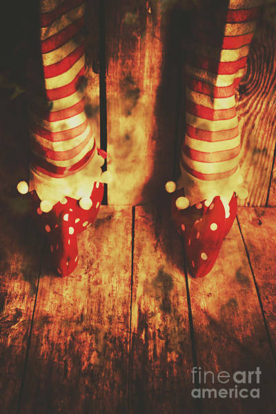 Christmas Decoration Photograph - Retro Elf Toes by Jorgo Photography - Wall Art Gallery