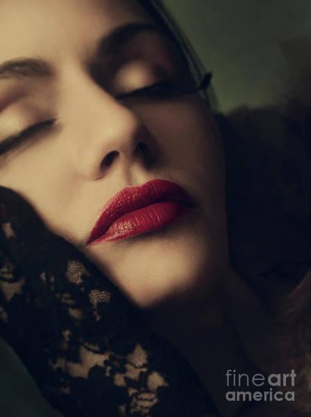 Photograph - Retro Female Portrait by Jelena Jovanovic