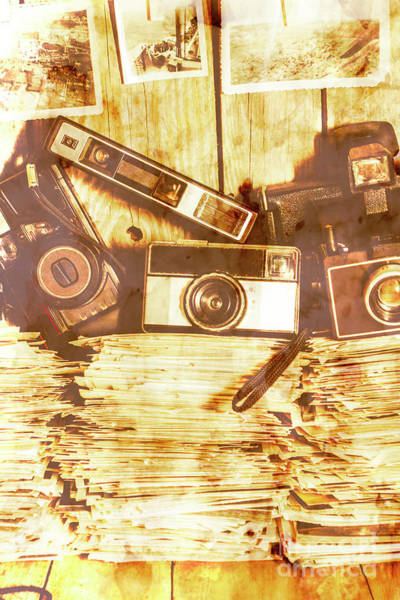 Film Still Photograph - Retro Film Cameras by Jorgo Photography - Wall Art Gallery