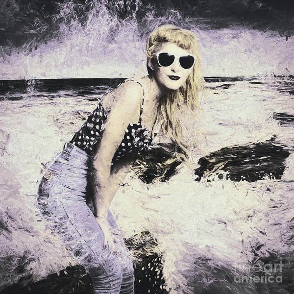 Wall Art - Photograph - Retro Fine Art Beach Pinup by Jorgo Photography - Wall Art Gallery