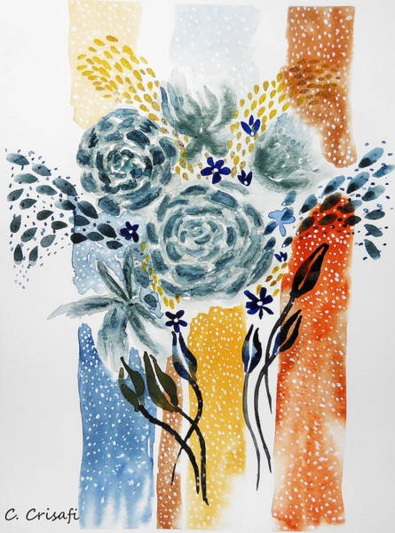 Painting - Retro Florals 2 by Carol Crisafi