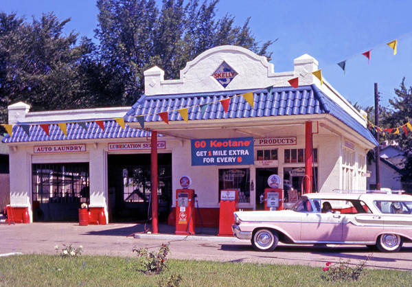 Gas Station Wall Art - Photograph - Retro Gas Station by Laura D Young