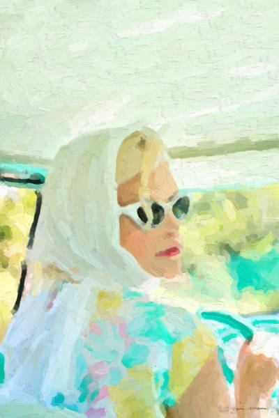 Digital Art - Retro Girl - Road Trip No.1 by Serge Averbukh