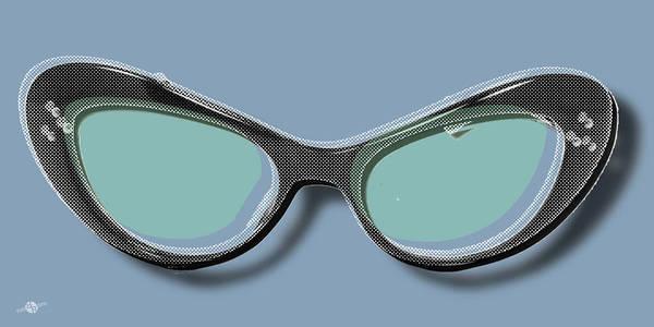 Painting - Retro Glasses Funky Pop Blue Teal by Tony Rubino