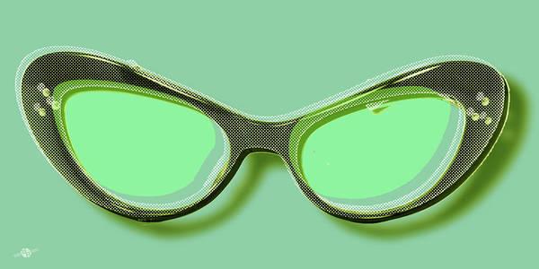 Painting - Retro Glasses Funky Pop Mint Green by Tony Rubino