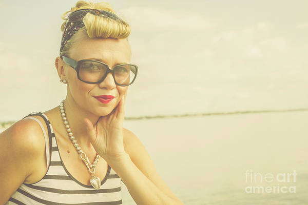 Intellectual Photograph - Retro Hair And Fashion Pinup by Jorgo Photography - Wall Art Gallery