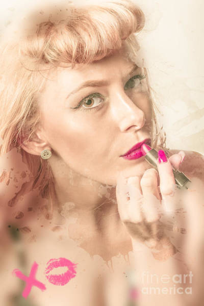 Redhead Photograph - Retro Makeup Pin-up by Jorgo Photography - Wall Art Gallery