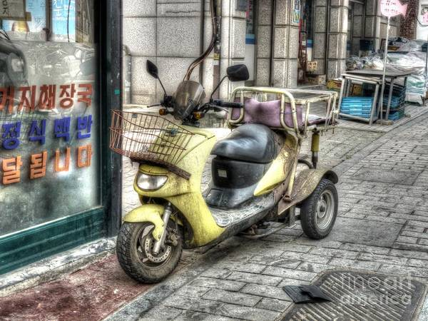 Wall Art - Photograph - Retro Moped by Michael Garyet