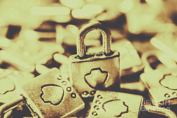 Privacy Photograph - Retro Padlock Protection by Jorgo Photography - Wall Art Gallery