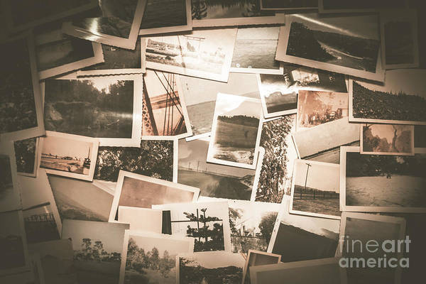 Postcard Photograph - Retro Photo Album Background by Jorgo Photography - Wall Art Gallery