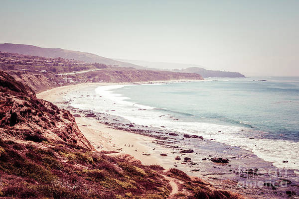 Oceanfront Photograph - Retro Photo Of Laguna Beach California by Paul Velgos