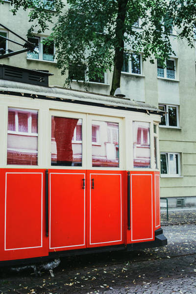 Wall Art - Photograph - Retro Red Tram by Pati Photography
