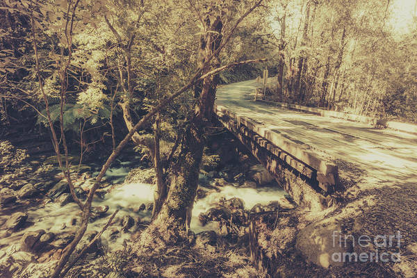 Pathway Photograph - Retro River Crossing by Jorgo Photography - Wall Art Gallery