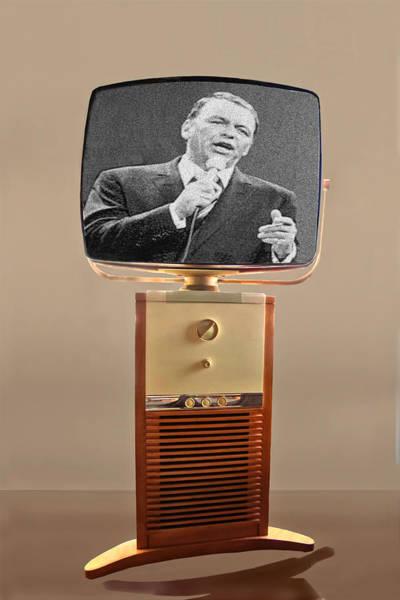 Retro Wall Art - Photograph - Retro Sinatra On Tv by Matthew Bamberg
