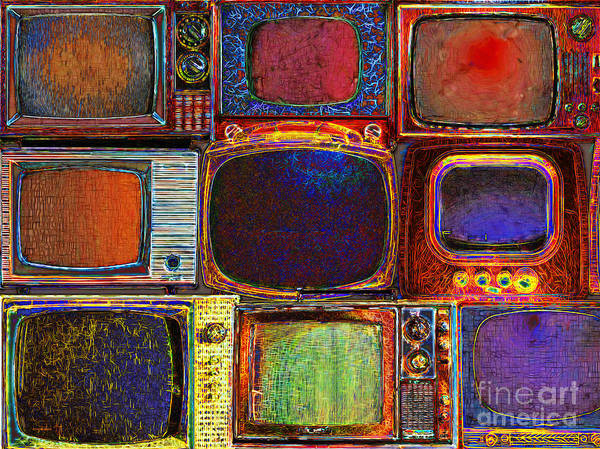 Photograph - Retro Television Marathon 20150928 by Wingsdomain Art and Photography