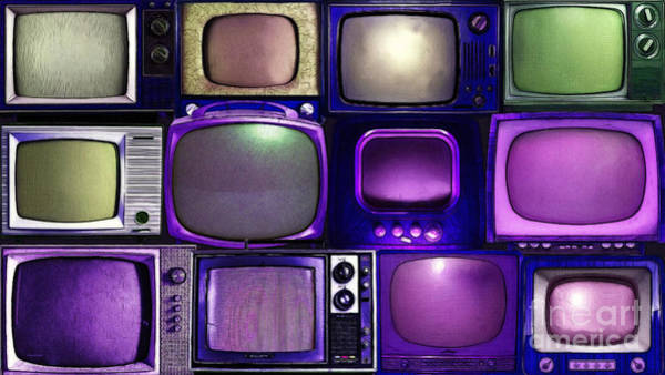 Crt Digital Art - Retro Television Marathon 20150928long V2 M128 by Wingsdomain Art and Photography