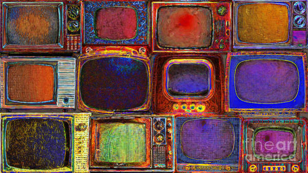 Photograph - Retro Television Marathon 20150928long by Wingsdomain Art and Photography