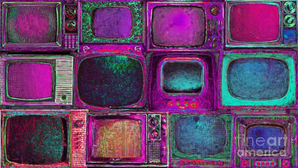 Crt Digital Art - Retro Television Marathon 20150928longm68 by Wingsdomain Art and Photography