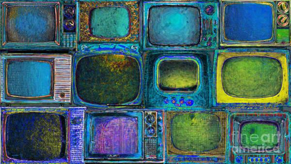 Crt Digital Art - Retro Television Marathon 20150928longp180 by Wingsdomain Art and Photography