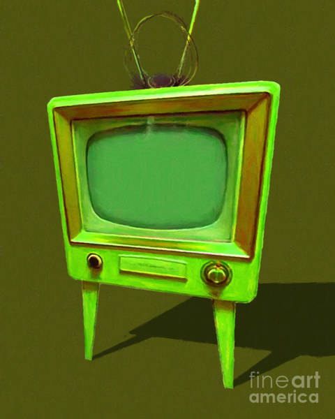 Photograph - Retro Television With Rabbit Ears 20150905 Yp45 by Wingsdomain Art and Photography
