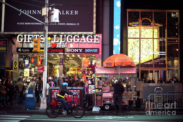 Photograph - Retro Times Square by John Rizzuto