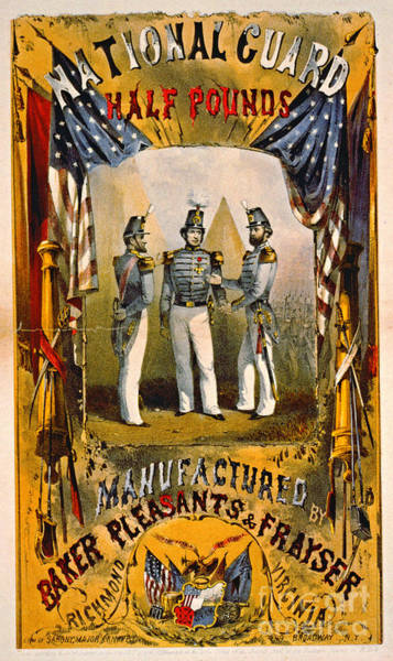 Militiaman Photograph - Retro Tobacco Label 1857 B by Padre Art