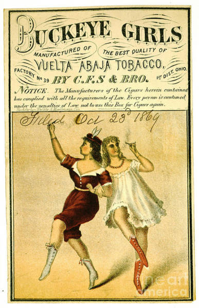 Wall Art - Photograph - Retro Tobacco Label 1869 F by Padre Art