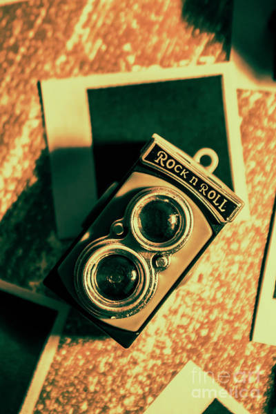 Film Still Photograph - Retro Toy Camera On Photo Background by Jorgo Photography - Wall Art Gallery
