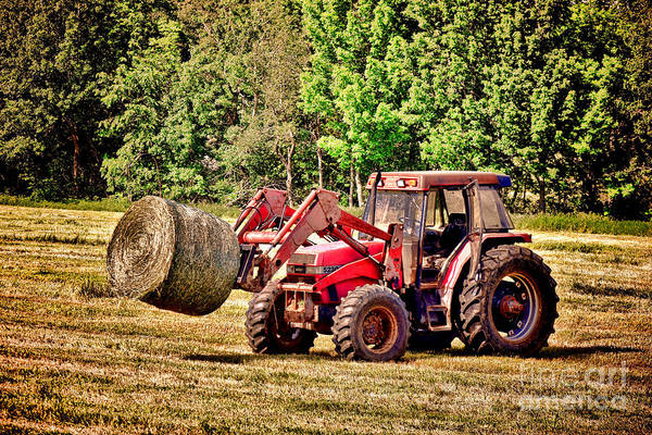 Photograph - Retro Tractor Scene by Olivier Le Queinec