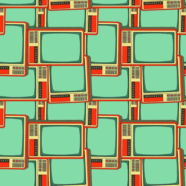 Television Program Digital Art - Retro Tv by Anastasiya Sinitsina
